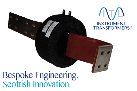 Current Transformer with integral copper bar.