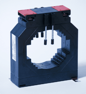 Plastic Case Current Transformer for mounting on busbar.